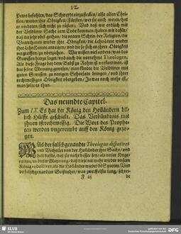 Das neundte Capitel. Zum IX. Es hat der König den Holländern billich Hülffe geschickt. Das Verbündtniß mit ihnen ist rechtmessig. Die Wort des Propheten werden ungereimbt auff den König gezogen