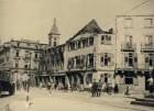 Zerstörungen Zweiter Weltkrieg - Karl-Friedrich-Straße, Polizeipräsidium und Geschäftshaus Schirm Weinig