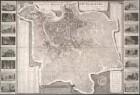 Stadtplan von Rom mit Ansichten, [Ca. 1:10 000], Kupferstich, 1827
