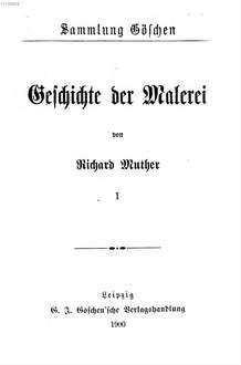 Geschichte der Malerei. 1