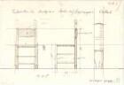 Fischer, Theodor; Stuttgart; Erlöserkirche - Stühle auf Orgelempore (Ansichten, Detail)