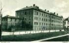 Speyer, Diakonissenstraße, Kaserne. - Im Vordergrund der Lochacker, später Feuerbachpark.
