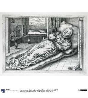 Martin Luther auf dem Totenbett
