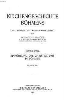 Einführung des Christentums in Böhmen. 2