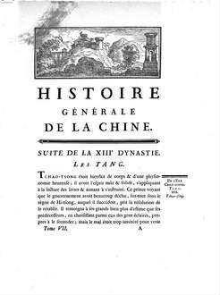 Histoire générale de la Chine, ou annales de cet empire. 7