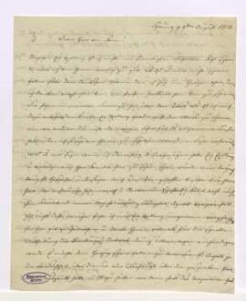 Amalie Fürstin von Anhalt-Bernburg-Schaumburg an Stein betr. v.a.: Auseinandersetzung der Fürstin mit dem Fürsten von Anhalt-Bernburg ---- Formalbeschreibung: egh.