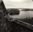 Blick vom Turm der Kirche in Petzow, Mai 1970