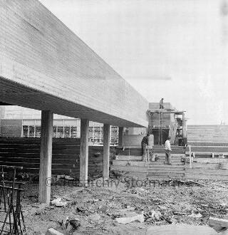 Schule am Masurenweg: Baustelle des Pädagogisches Zentrum: Außenansicht