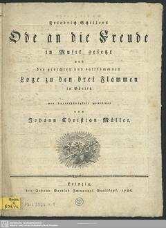 Friedrich Schillers Ode an die Freude