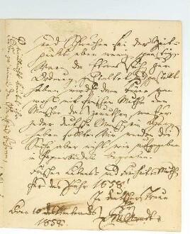 3.Seite des Briefes von Ernst Moritz Arndt