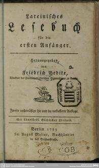 Lateinisches Lesebuch für die ersten Anfänger
