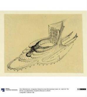 Imaginäre Skizze für einen Brückenkopf