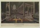 Krönungsfeierlichkeiten in der Westminster Abbey in London, Farblithographie, 1831