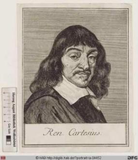 Bildnis René Descartes (lat. Renatus Cartesius)