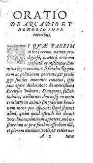 Oratio de Arcadio et Honorio imperatoribus
