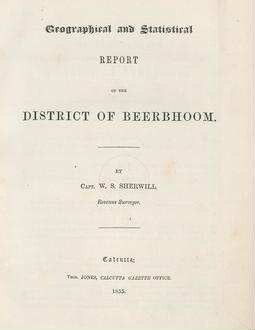 Geographical and Statistical Report of the District of Beerbhoom