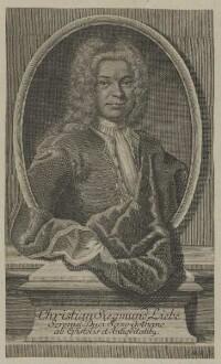 Bildnis des Christian Siegmund Liebe