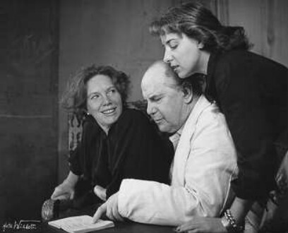 Elisabeth Flickenschildt, Jürgen Fehling, Joana Maria Gorwin (Probenfoto)