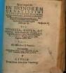 Sacra nuptialia In Honorem ... Dn. Valentini Cobergeri Stolbergensis, Cantoris in niuosis montibus dignissimi, celebrantis nuptias ... Cvm ... Magdalena ... Friderici Reinboth, ciuis Torgensis relicta filia