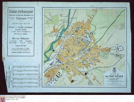 Stadtplan von Gießen