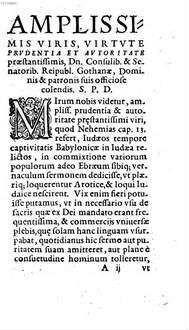 De Lingva Chaldaea, Et Syriaca, II. De Instavratoribvs primis patrum nostrorum memoria Ebreae, in his regionibus Oratio