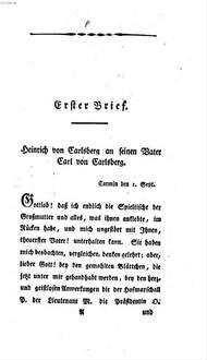 Heinrich von Carlsberg oder Briefe über die Waisenhäuser zu Carmin und Grünau : ein Versuch über die zweckmäßigste Einrichtung und Benutzung dieser Armenerziehungsanstalten nach den Bedürfnissen unserer Zeit