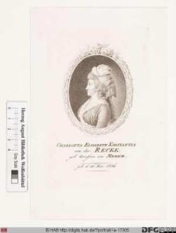 Bildnis Elisabeth (Elisa) Charlotte Constantia Freifrau von der Recke, geb. Reichsgräfin von Medem