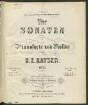 Vier Sonaten : für Pianoforte u. Violine ; op. 33. 2. Sonate in F. Sonate in C. - 19 S. + 1 St.