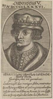 Bildnis von Ludovicus V., König von Frankreich