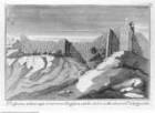 Veteris Latii antiquitatum amplissima collectio: ... Volumen secundum. 5 Teile., 3. Teil: Lanuvinorum, et Ardeatinorum Rudera, Tafel XIV: Prospectus arduae Rupis, & murorum Ardeae