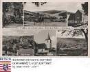 Ober-Mossau, Panorama und Einzelansichten / 1. Reihe v. l. n. r.: Siegfriedbrunnen, Unter-Mossau, alte Mühle / 2. Reihe: Ober-Mossau, Johanniterkirche
