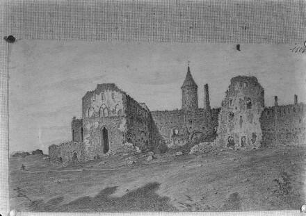 Bischofsburg Hapsal von Osten