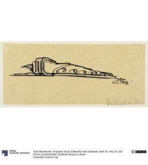 Imaginäre Skizze, Entwurf für eine Güterhalle