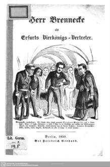 Herr Brennecke als Erfurts Vierkönigs-Vertreter