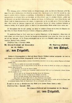 Maueranschlag Provenienz: Stadtarchiv Düsseldorf