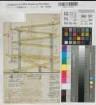 """Schwelm (Schwelm) - Orgelkonstruktion - Balgstellage - Schnitt - um 1800 - 1 Fuß 10"""" = 3,3 cm - 32 x 20 - kol. Zeichnung - Nachlaß Roetzel Nr. 112"""