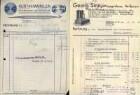 Rechnungen, Briefbögen, Postkarten u. ä. von Heilbronner Firmen mit typografischer Gestaltung Anfangsbuchstabe L - S