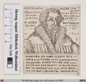 Bildnis Johann Mathesius (Matthesius) (I)