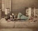 Portrait zweier schlafender Mädchen