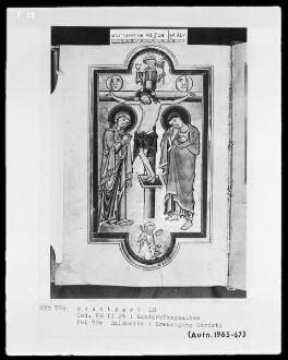 Psalterium (sogenannter Landgrafenpsalter) — Kreuzigung Christi, Folio 73verso