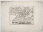Plan und Ansichten von Potsdam, 1:16 000, Stahlstich, um 1840