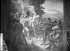 """""""Vaterländische Geschichtsgalerie"""": Die treuen Bayern zur Abwehr am Peissenberg versammelt..., im Jahre 1525"""