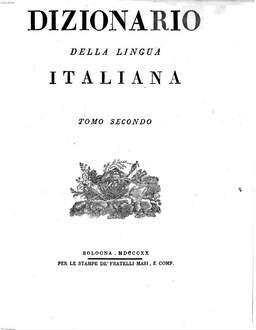 Dizionario della lingua Italiana. 2, B - Bu, C - Cu
