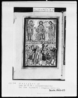 Psalterium (sogenannter Landgrafenpsalter) — Weltgericht, Folio 139verso