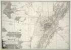 Plan von München und Umgebung, 1:10 000, Lithographie, 1820