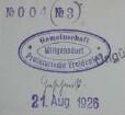 Proletarische Gemeinschaft Freidenker Wittgensdorf / Stempel