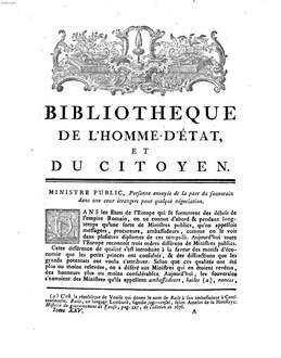 Dictionnaire Universel Des Sciences Morale, Économique, Politique Et Diplomatique, Ou Bibliothèque De L'Homme-D'État Et Du Citoyen. 25, MI - OR