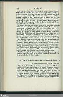 Friedrich de La Motte Fouqué an August Wilhelm von Schlegel, Nennhausen, 11.04.1806