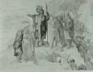 Hannibal zeigt seinen Kriegern Italien