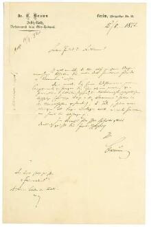 Brief von Karl Braun